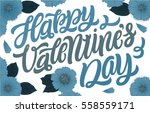 happy valentine's day. greeting ... | Shutterstock .eps vector #558559171