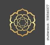 Stock vector abstract gold hexagonal frame 558560377