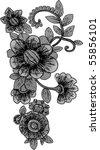 vintage flower | Shutterstock .eps vector #55856101
