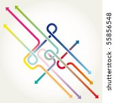 arrows background vector... | Shutterstock .eps vector #55856548