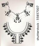 embroidery collar set   Shutterstock .eps vector #55857007