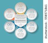 vector infographic template  6... | Shutterstock .eps vector #558571861
