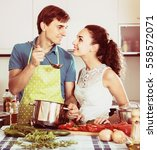 portrait of young couple... | Shutterstock . vector #558572071