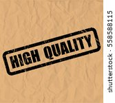 high quality text rubber seal... | Shutterstock .eps vector #558588115
