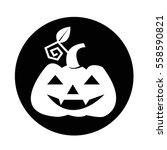 halloween pumpkin icon | Shutterstock .eps vector #558590821