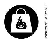 halloween pumpkin icon | Shutterstock .eps vector #558590917