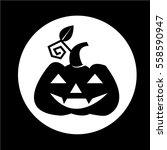 halloween pumpkin icon | Shutterstock .eps vector #558590947