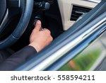 businessman starting the... | Shutterstock . vector #558594211