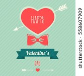 happy valentines day design.... | Shutterstock .eps vector #558607909
