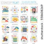 infographics mini concept cloud ... | Shutterstock .eps vector #558608269