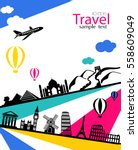 vector infographics travel and... | Shutterstock .eps vector #558609049