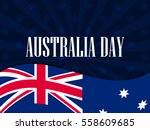 happy australia day 26 january. ... | Shutterstock .eps vector #558609685