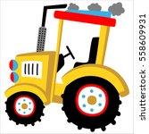 big yellow tractor vector... | Shutterstock .eps vector #558609931