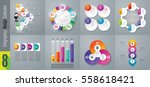 infographic design vector and... | Shutterstock .eps vector #558618421