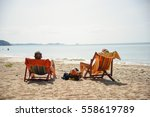 Deckchair  Chair On The Beach...
