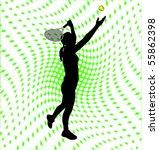female tennis player silhouette ... | Shutterstock .eps vector #55862398