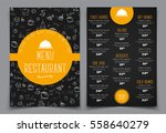design a menu for a cafe or... | Shutterstock .eps vector #558640279