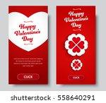 design vertical banners happy... | Shutterstock .eps vector #558640291