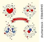 happy valentin's day.  set of... | Shutterstock .eps vector #558640945