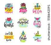 vector calligraphy with decor... | Shutterstock .eps vector #558642091