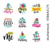 vector calligraphy with decor... | Shutterstock .eps vector #558642175