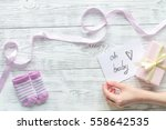 birth of child   baby shower... | Shutterstock . vector #558642535