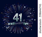 happy 41st anniversary. with... | Shutterstock .eps vector #558646741