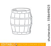 barrel. editable line drawing.... | Shutterstock .eps vector #558649825