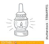 kerosene lamp. light. editable...   Shutterstock .eps vector #558649951