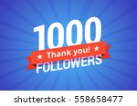 1000 followers vector... | Shutterstock .eps vector #558658477
