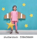 little child girl in an...   Shutterstock . vector #558658684