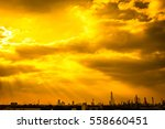 colorful dramatic sky with... | Shutterstock . vector #558660451