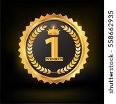 golden laurel with number one ...