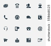 set of 16 simple connect icons. ... | Shutterstock .eps vector #558668125
