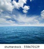 blue sea water surface on sky   Shutterstock . vector #558670129