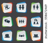 set of 9 simple buddies icons....   Shutterstock .eps vector #558672469