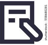notes vector icon | Shutterstock .eps vector #558680281