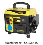 portable generator  electric... | Shutterstock . vector #55868455