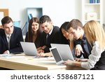 business people working in... | Shutterstock . vector #558687121