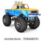 monster truck. 3d image... | Shutterstock . vector #558688351