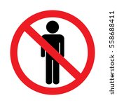 no man entry sign on white...   Shutterstock . vector #558688411