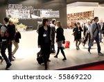 milan   april 15  people visit...   Shutterstock . vector #55869220