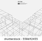 line structure pattern... | Shutterstock .eps vector #558692455