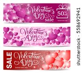 valentines day sale backgrounds ... | Shutterstock .eps vector #558692941