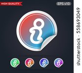 colored icon or button of info... | Shutterstock .eps vector #558693049