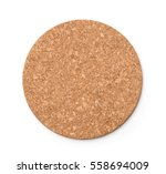 top view of round  cork trivet... | Shutterstock . vector #558694009