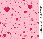 seamless background with heart. ... | Shutterstock .eps vector #558696097