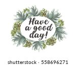 greeting card flowers... | Shutterstock . vector #558696271