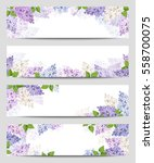 Vector Web Banners With Purple...