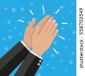 human hands clapping. applaud...   Shutterstock . vector #558703549